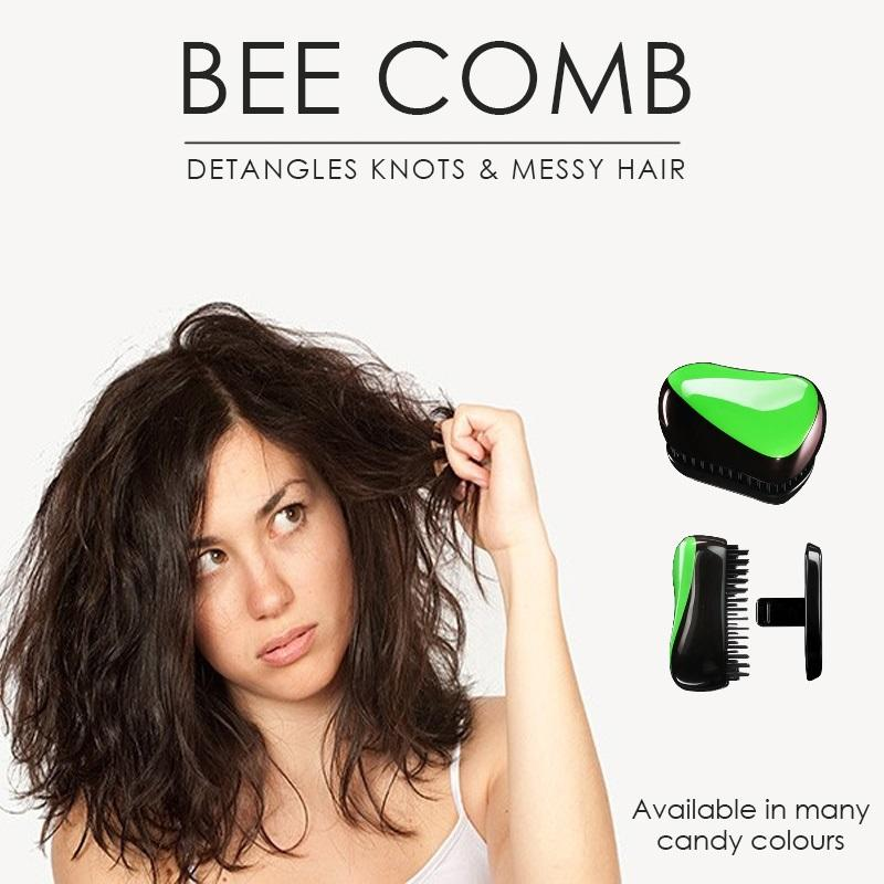 e344b9c51 Singapore. SOL ® BEAUTY 1pc x Bee Comb - Untangles hair. Fits in your bag  without