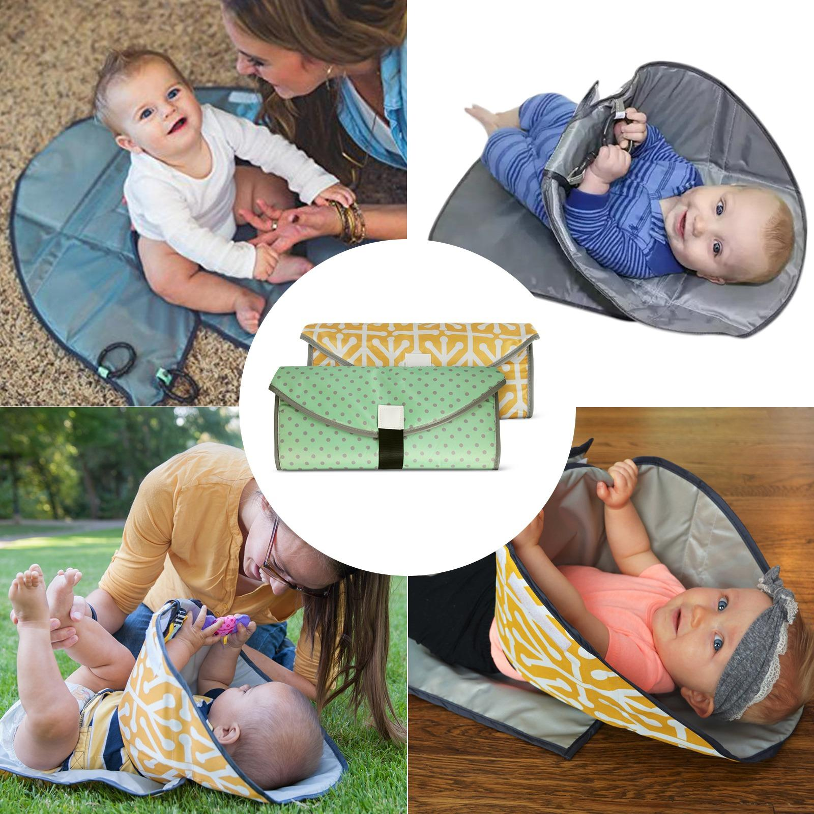 Portable Waterproof Baby Clean Hands Changing Pad 3 In 1 Diaper Clutch Pad For Infants Babies And Toddlers Deal