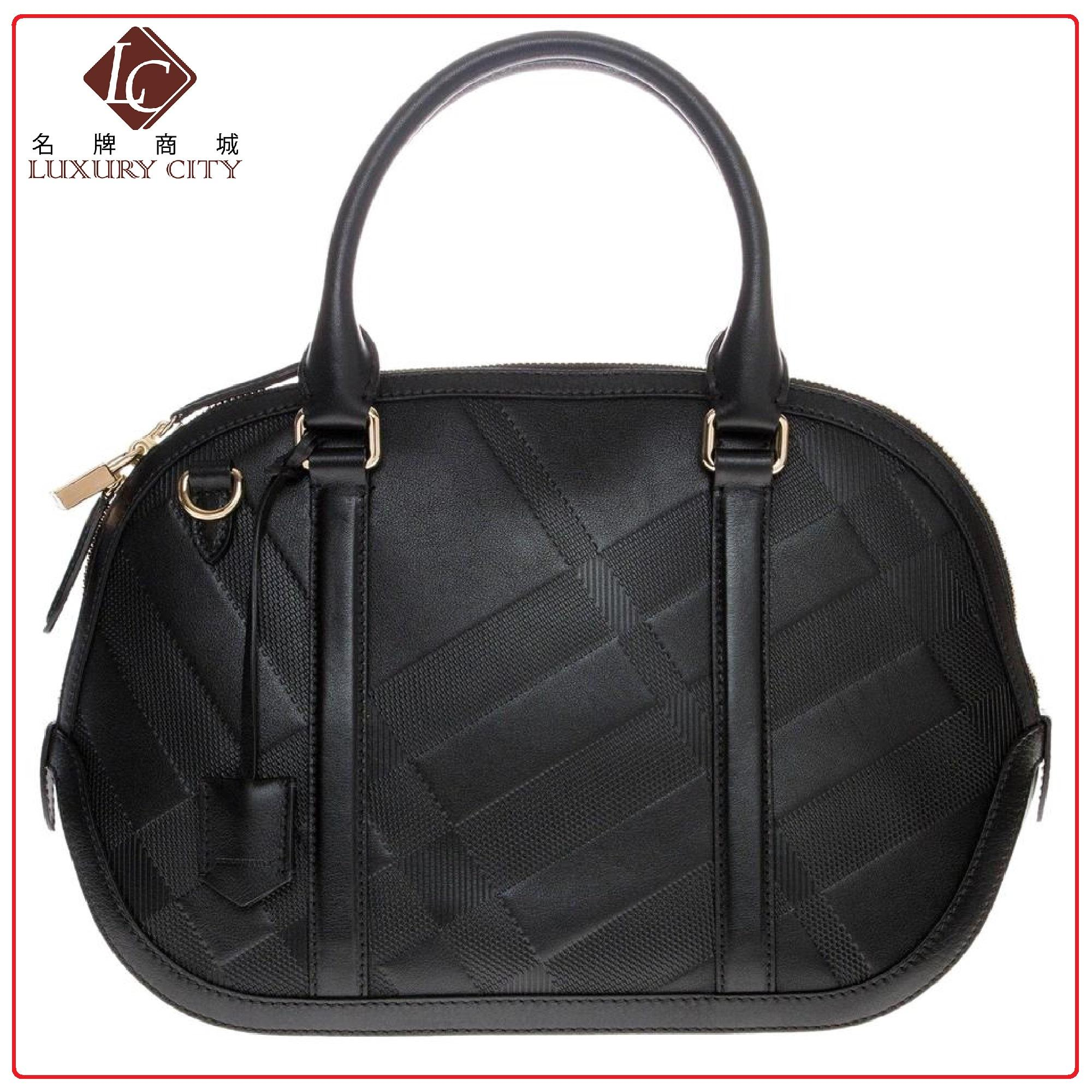c1f5f1f41a43 BURBERRY Women s Small Soft Check Orchard Handbag 3949802 (Black )