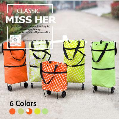 MISSHER Trolley Bag for Groceries / Shopping / Market [ Foldable  Durable LB-CH18