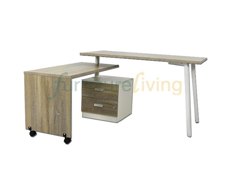 Furniture Living Study Desk / Writting Table (Limewash)