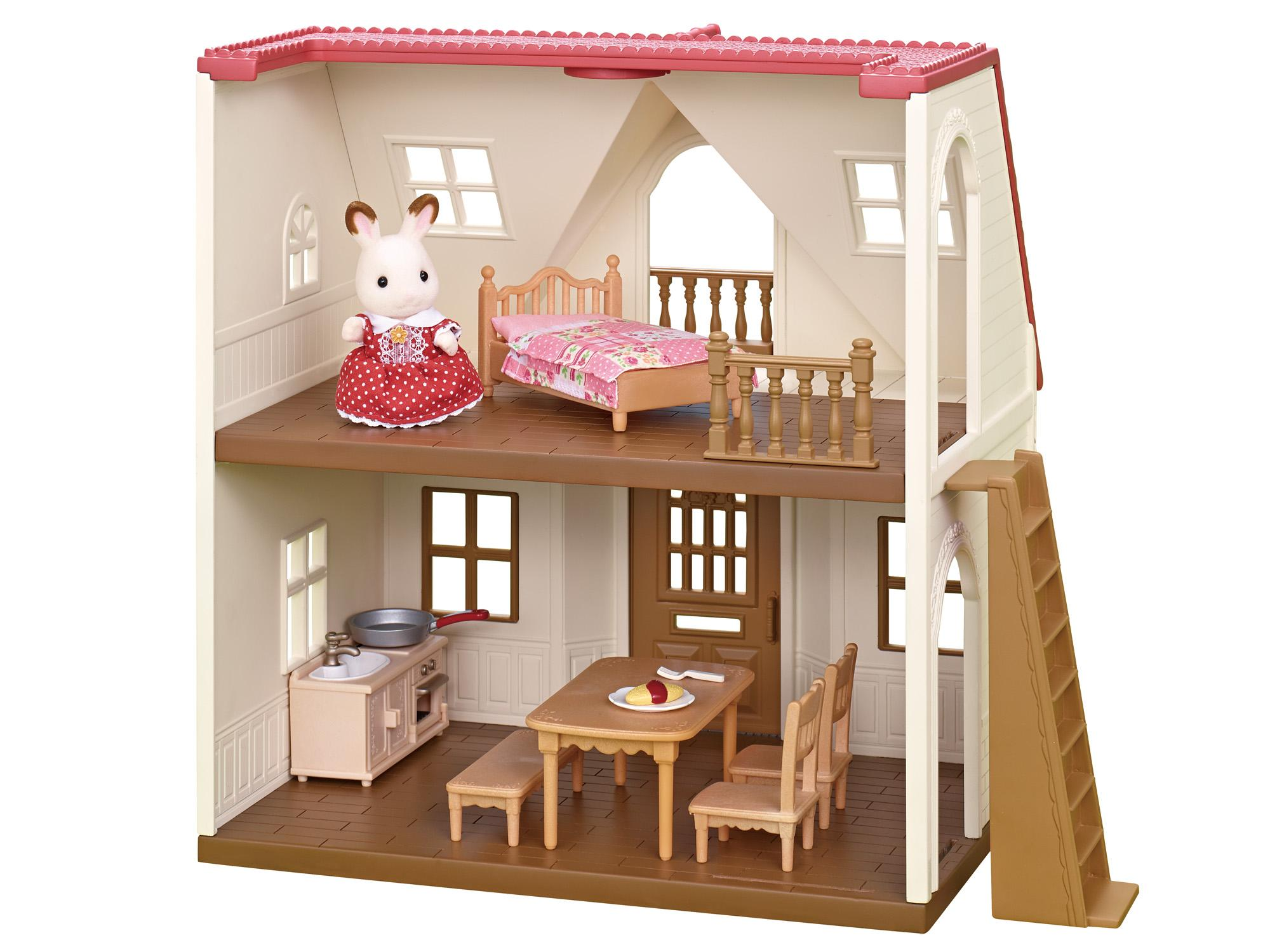 Sylvanian families red roof cosy cottage starter home 5242