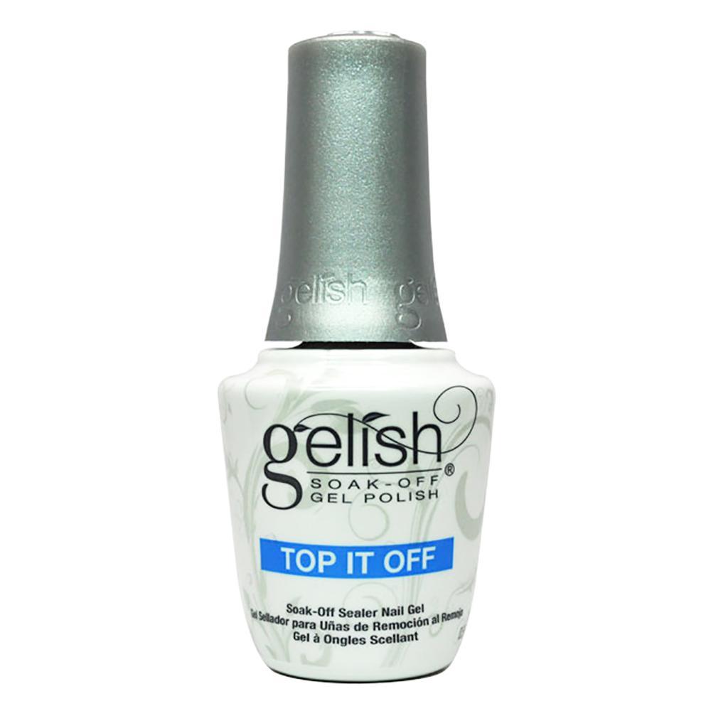 Harmony Gelish Soak-Off Nail Polish Top It Off 15ml By Johnnybeautyandnails.