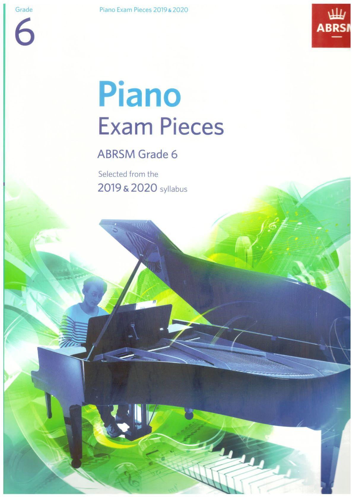 ABRSM Piano Exam Pieces 2019 2020 - Grade 6 (Book Only)