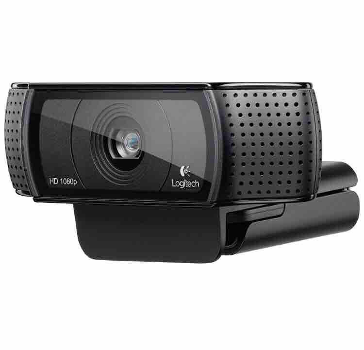 Logitech HD Pro Webcam C920, Logitech C920 Widescreen Video Calling and Recording, 1080p Camera, Desktop or Laptop Webcam