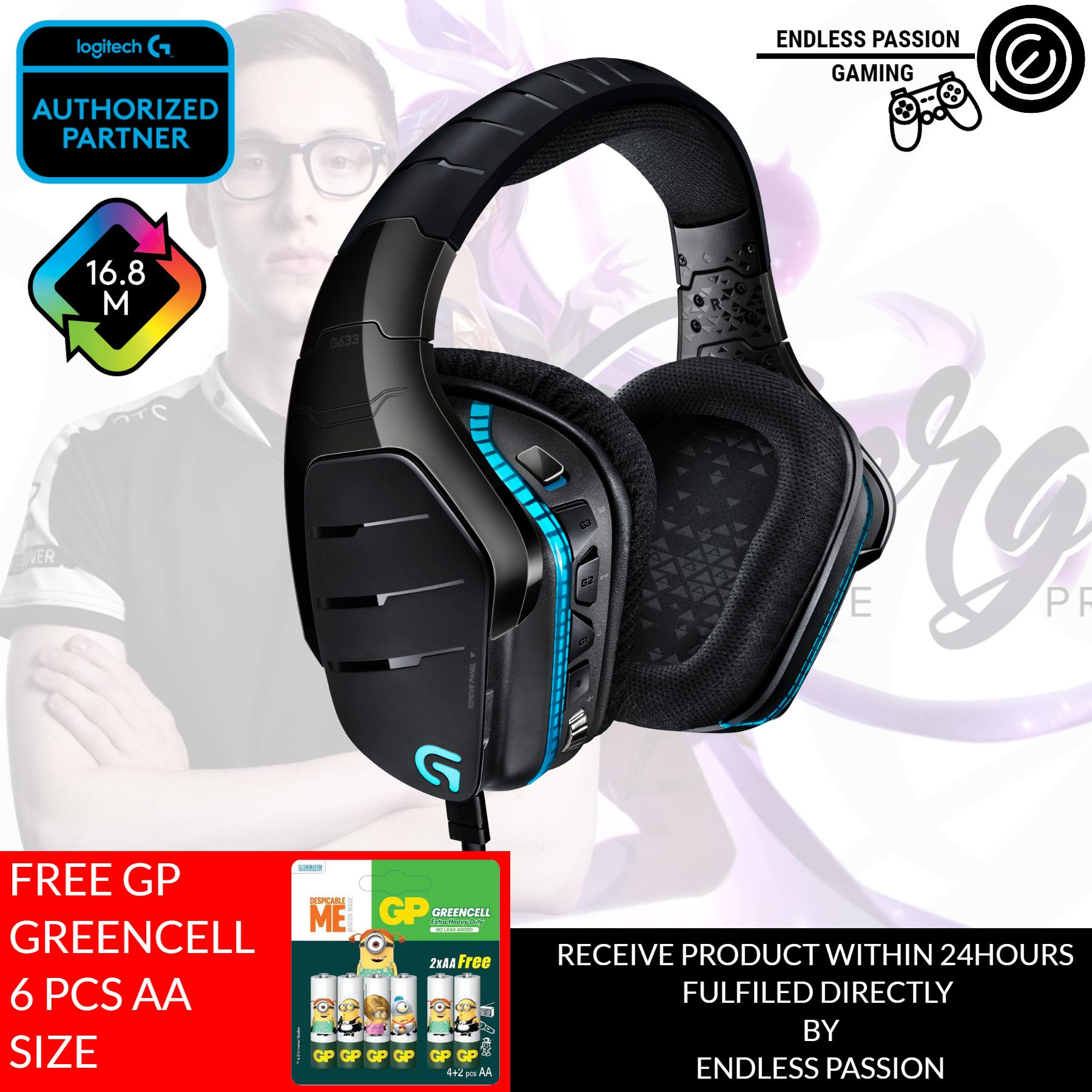 Logitech G633 Artemis Spectrum – RGB 7.1 Dolby and DST Headphone Surround Sound Gaming Headset – PC, PS4, Xbox One, Switch, and Mobile Compatible