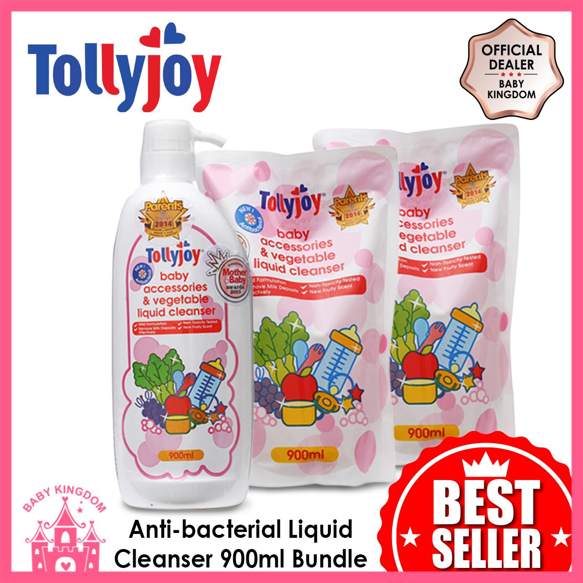 Tollyjoy Antibacterial Baby Accessories And Vegetable Liquid Cleanser Refill (1bottle + 2refills) By Baby Kingdom.