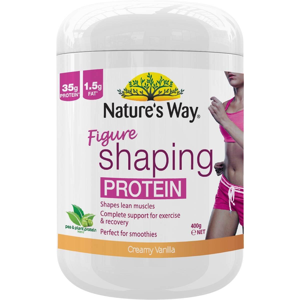 Natures Way Figure Shaping Protein (vanilla) Powder 400g May 2020 By Australia Health Warehouse.