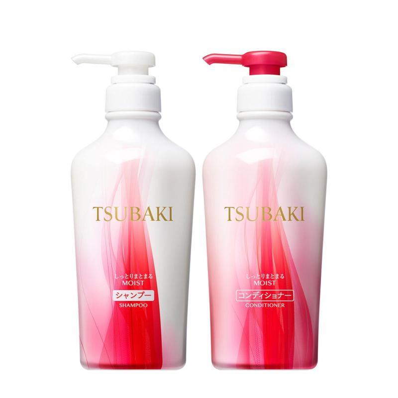 Buy Tsubaki Botanical Moist & Manageable Shampoo + Conditioner 450ml Singapore