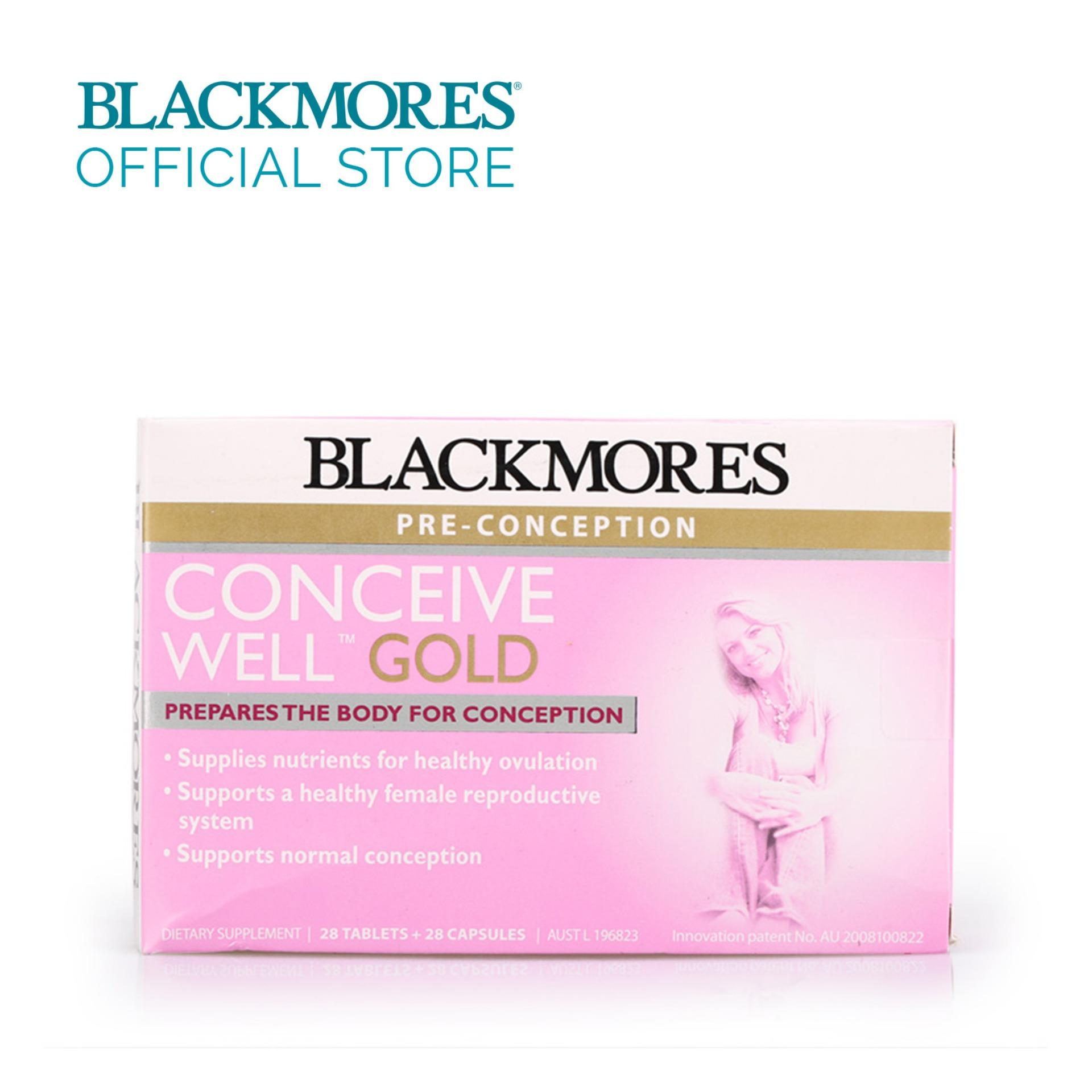 Blackmores Conceive Well Gold 28s+28s 56tabs By Blackmores Official Store.