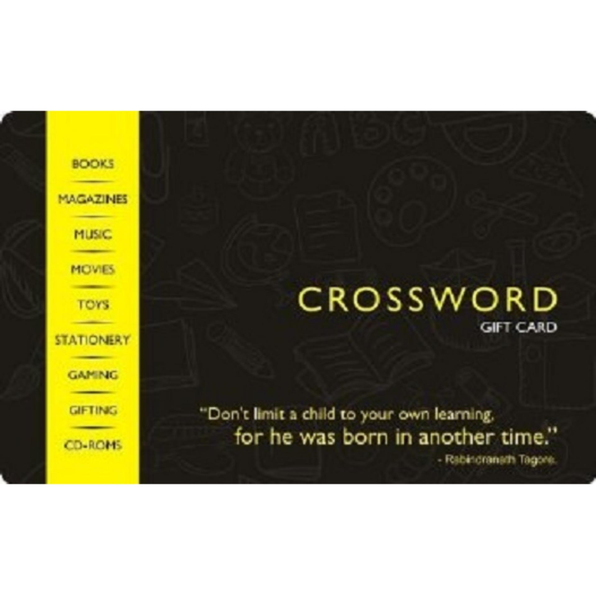 Crossword Digital Gift Cards: Rs. 1005 By Qwikcilver Store.