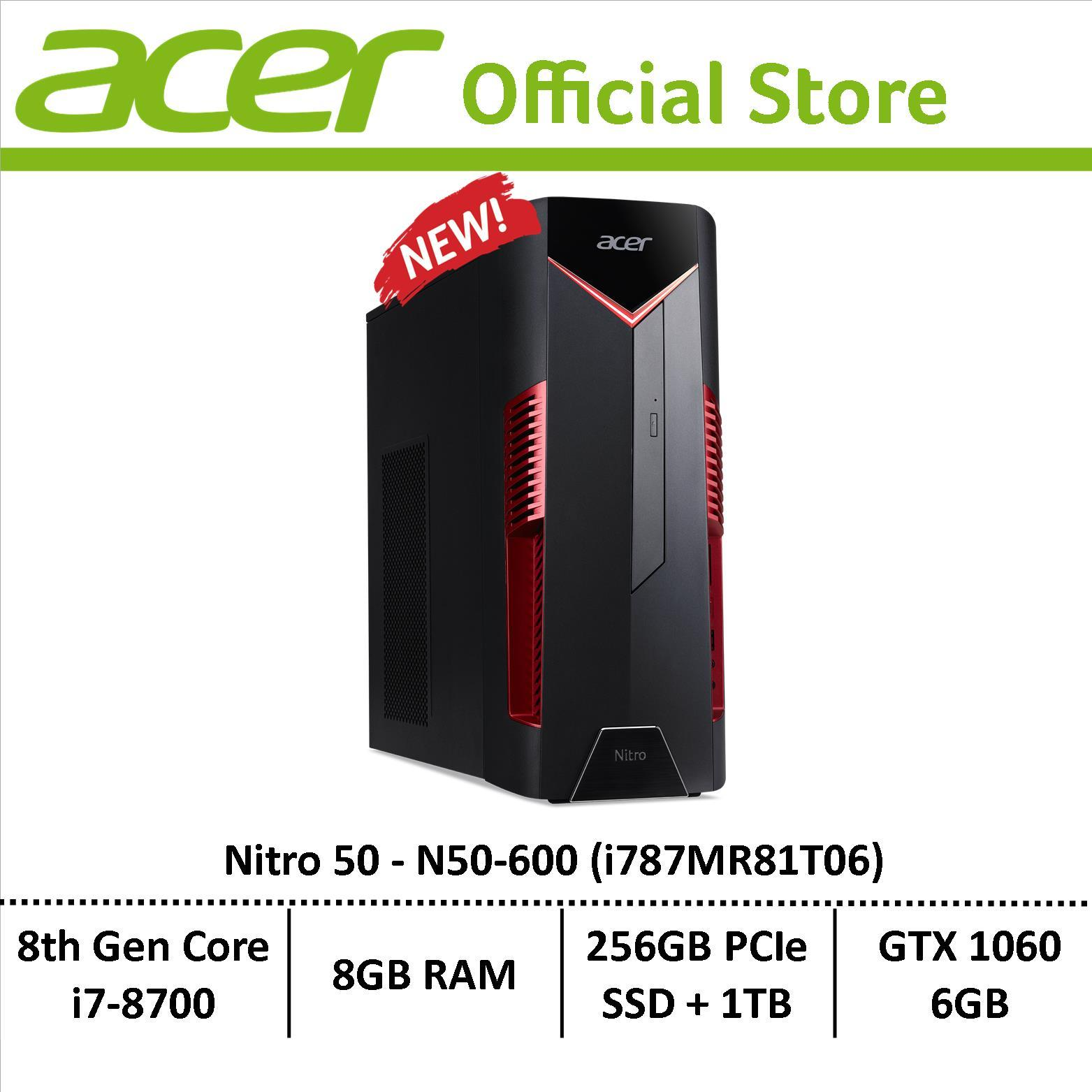 Acer Nitro 50 N50-600 (i787mr81t06) Gaming Desktop By Acer Official Store.