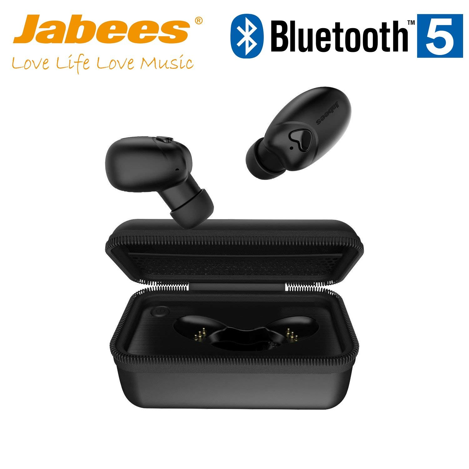 5924fecc5b0 Jabees Beebud Bluetooth 5.0 Truly Wireless Bluetooth Earphones True  Wireless Headphones, with Built-in