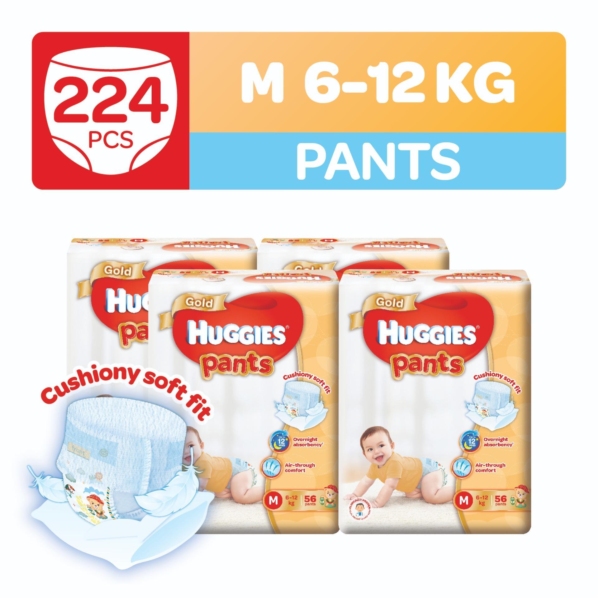 Shop For Huggies Gold Pullup Pants M 56Pcs X 4 Packs