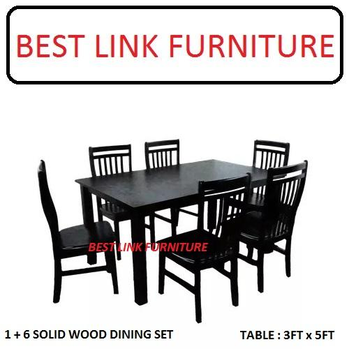 BEST LINK FURNITURE BLF W561 + W982 (1 + 6) Dining Table Set