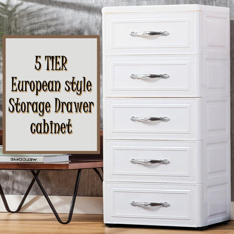 European Style Multi Layer Drawer Storage Cabinet Cube Clothing Baby Toy Box