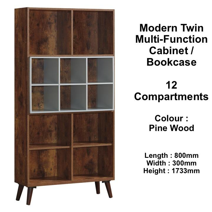 NOSTALGIA Twin Multi-function Cabinet / Bookcase