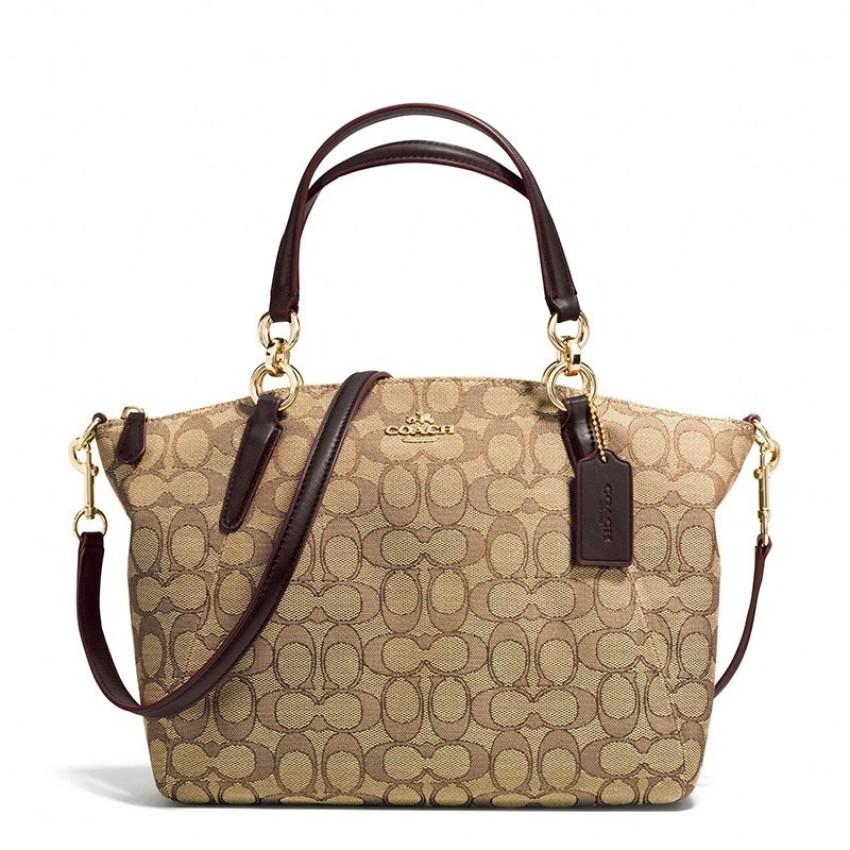 b00670b71d Authentic Coach Small Kelsey Satchel in Signature Jacquard with Gift receipt