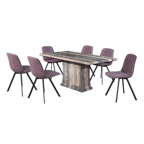 LIVING MALL_Fenella Dining Set 1+6_FREE DELIVERY