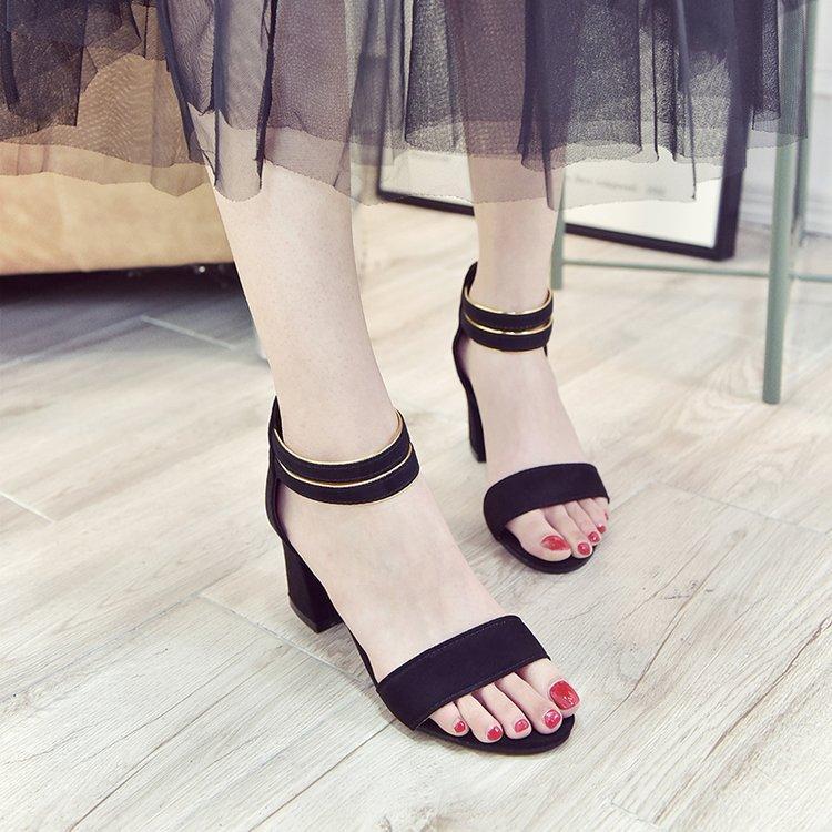 Versatile sub Students summer high heel sandals