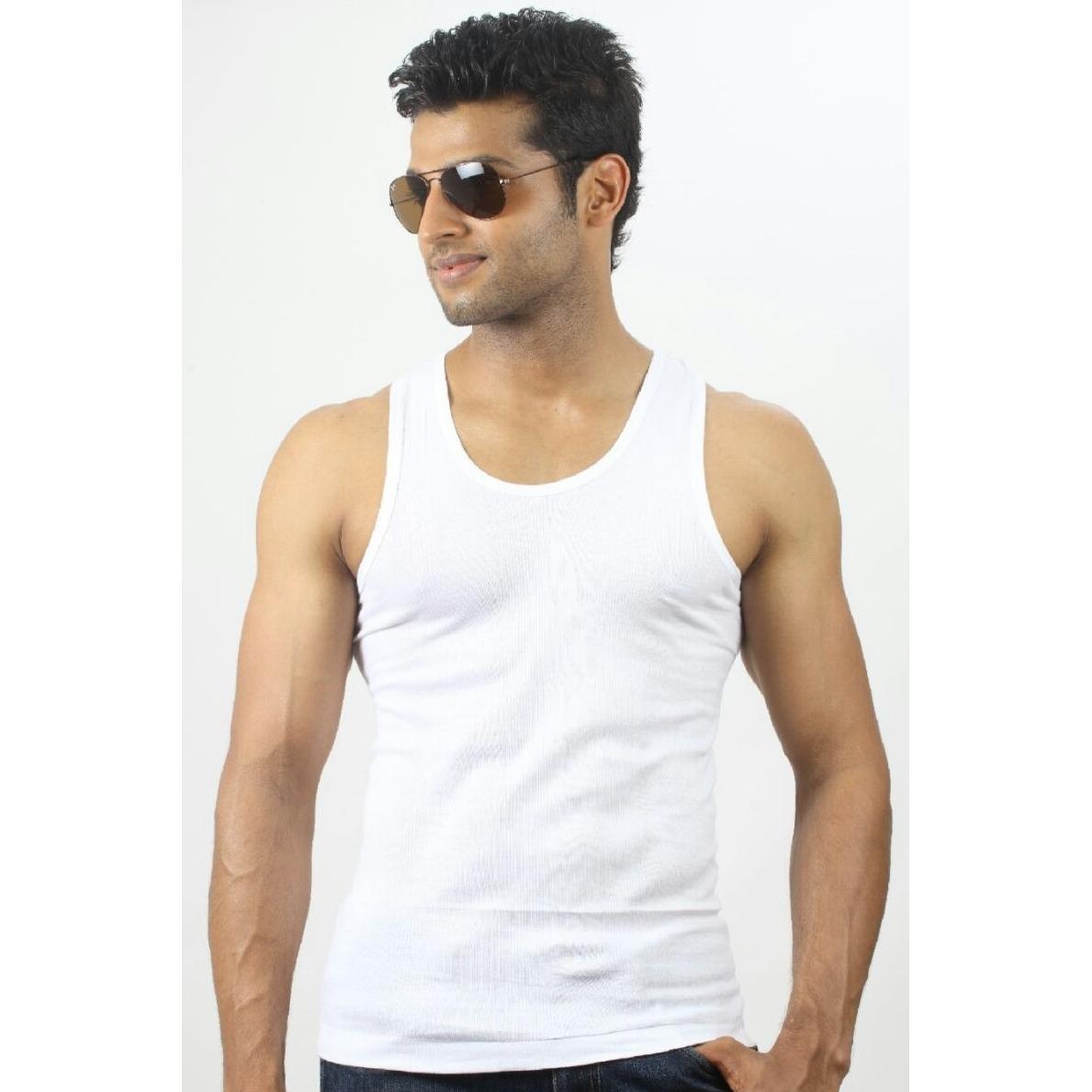 Men Cotton Vest / Singlet - 5 Pcs By Arm Clothings.