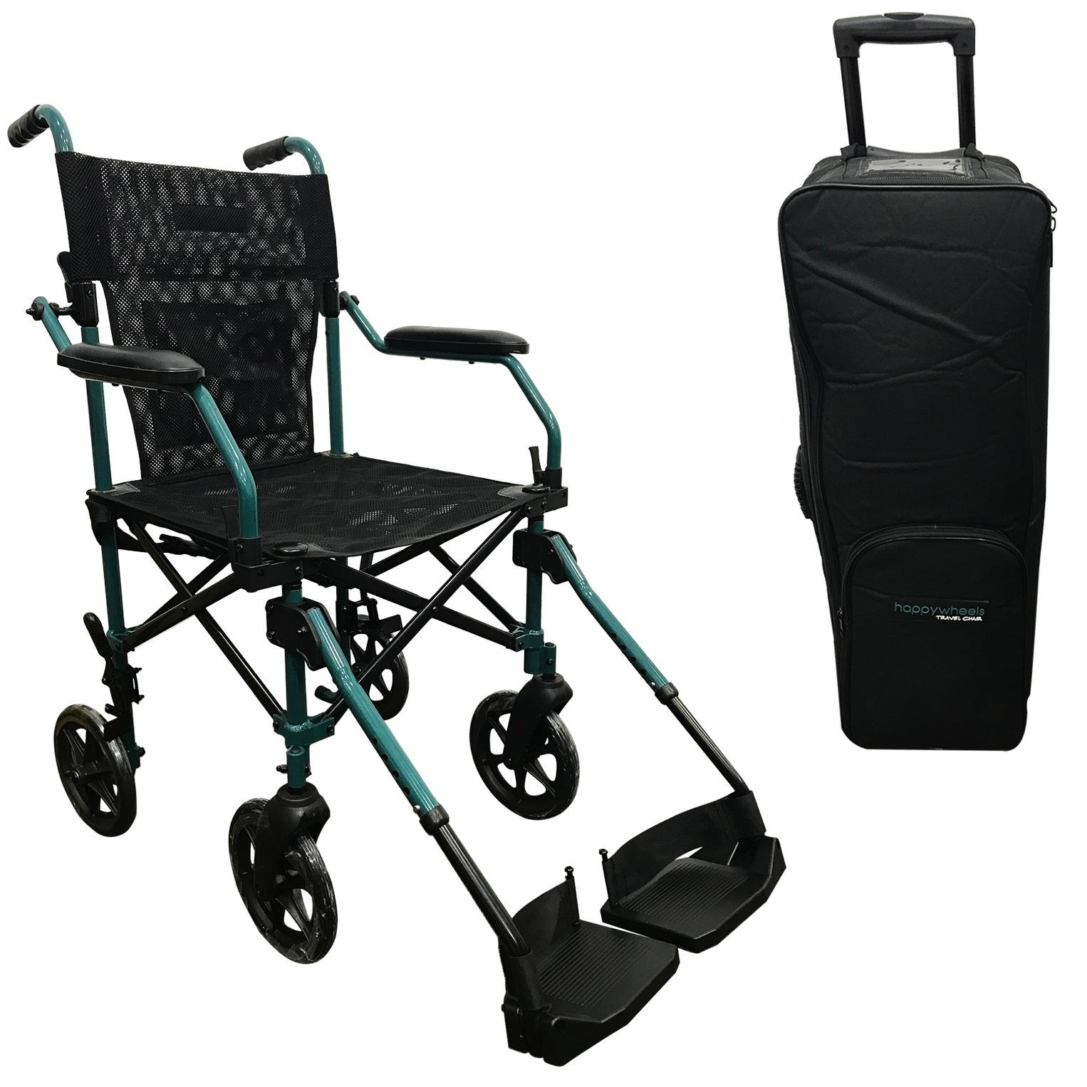 Top 10 Happywheels Travel Chair Lightweight Portable Foldable Transport Wheelchair With Trolley Bag