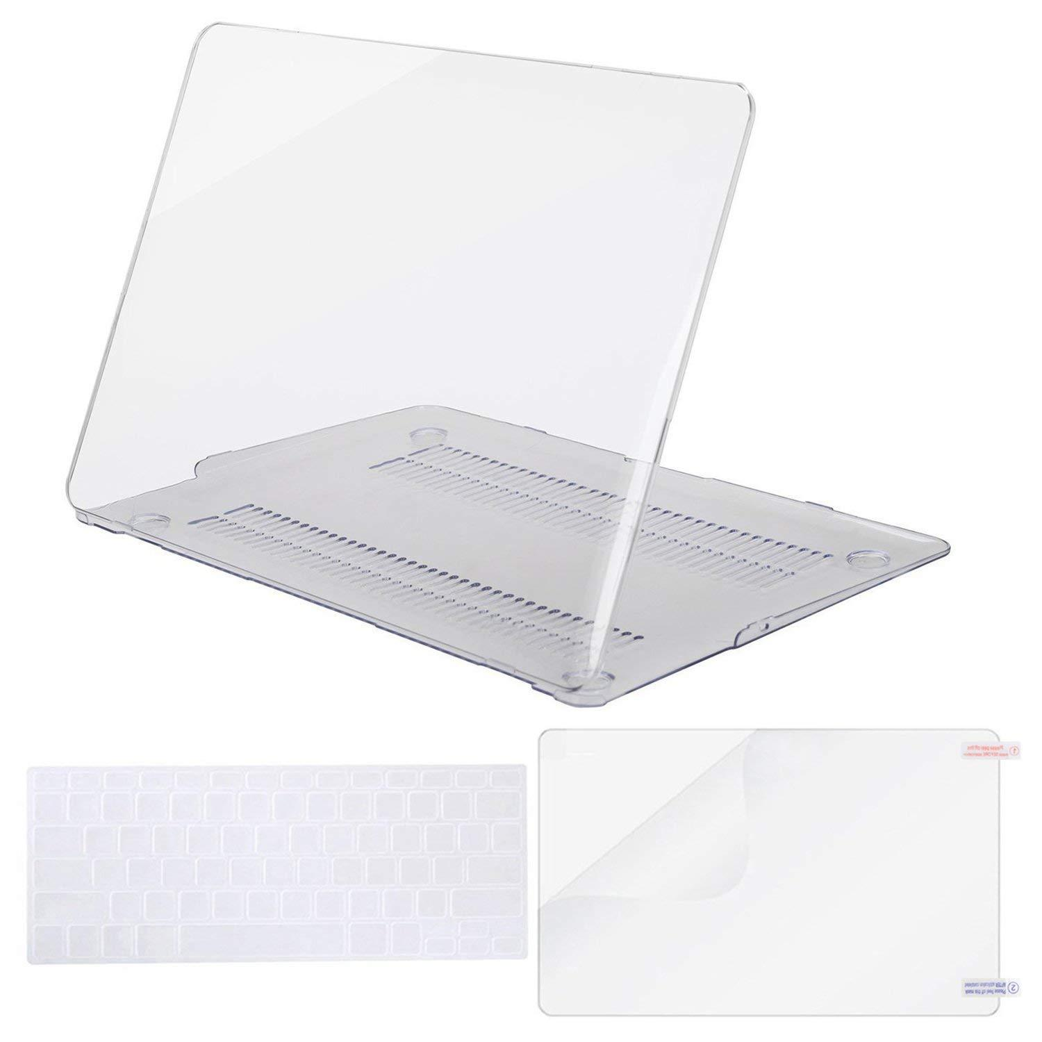 MacBook Plastic Hard Shell Case & Keyboard Cover & Screen Protector Compatible MacBook Air 11 Inch (Models: A1370 & A1465) Release 2015 / 2014 / 2013 / 2012 / 2011 / 2010