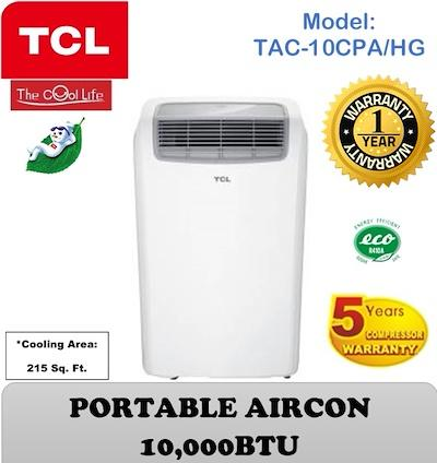 Tcl 10.000 Btu Portable Aircon Tac-10cpa/hng By Src International.