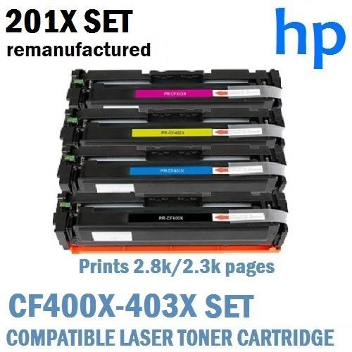 Coupon Hp Cf400X Cf401X Cf402X Cf403X 201X Set Of High Yield Prints 2 8K 2 3K Cmy Pages Compatible Laser Toner Cartridges