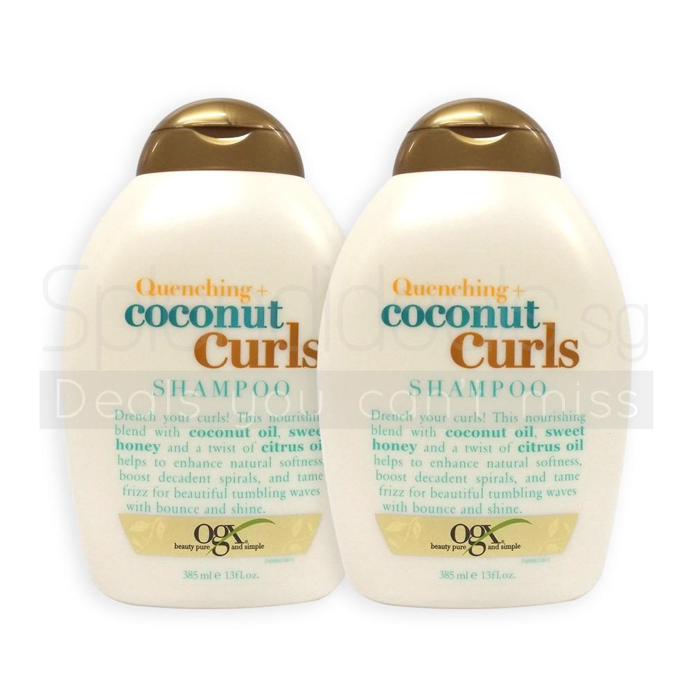 Buy Pack Of 2 Ogx Organix Quenching Coconut Curls Shampoo 385Ml 0906 Organix Online