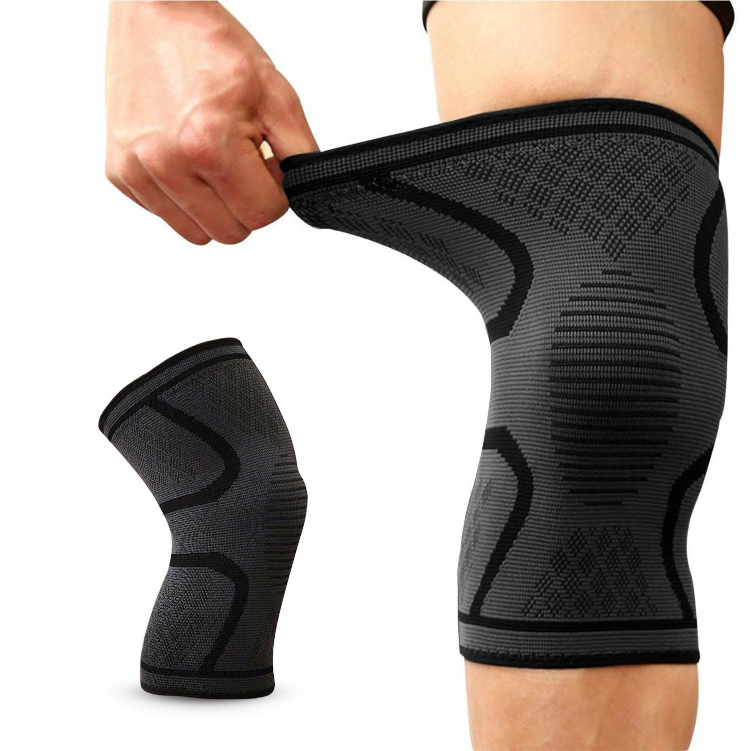 0217a1d5bf Knee Support Brace Compression Sleeves Breathable Anti Slip Arthritis Pain  Relief Elastic Adjustable Support Brace for