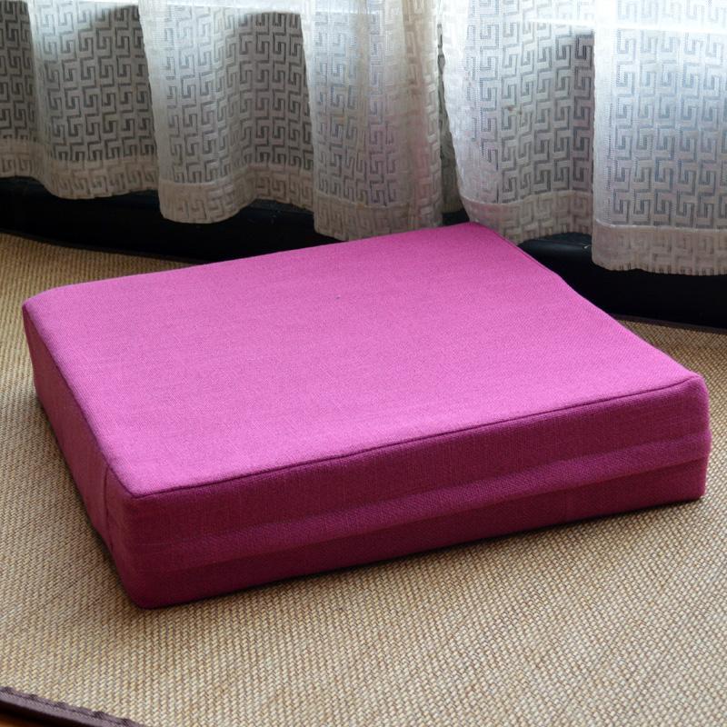 Linen floor summer thicken throw pillow throw pillow