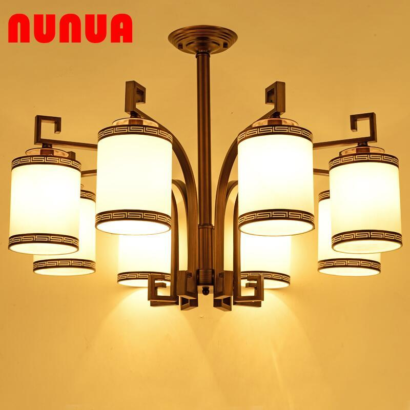Living Room Chandelier LED Chinese Style Light Multi-headed Chandelier Warm Chinese Style Chandelier Led Chandelier Warm Style Living Room Chandelier