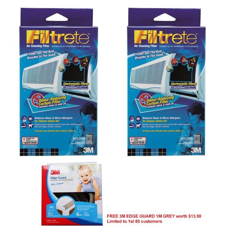 Bundle Of 2 3M Filtrete Air Cleaning Filter Carbon Free 3M Edge Guard 1M Grey Worth 13 90 Limited To 1St 80 Customers Deal
