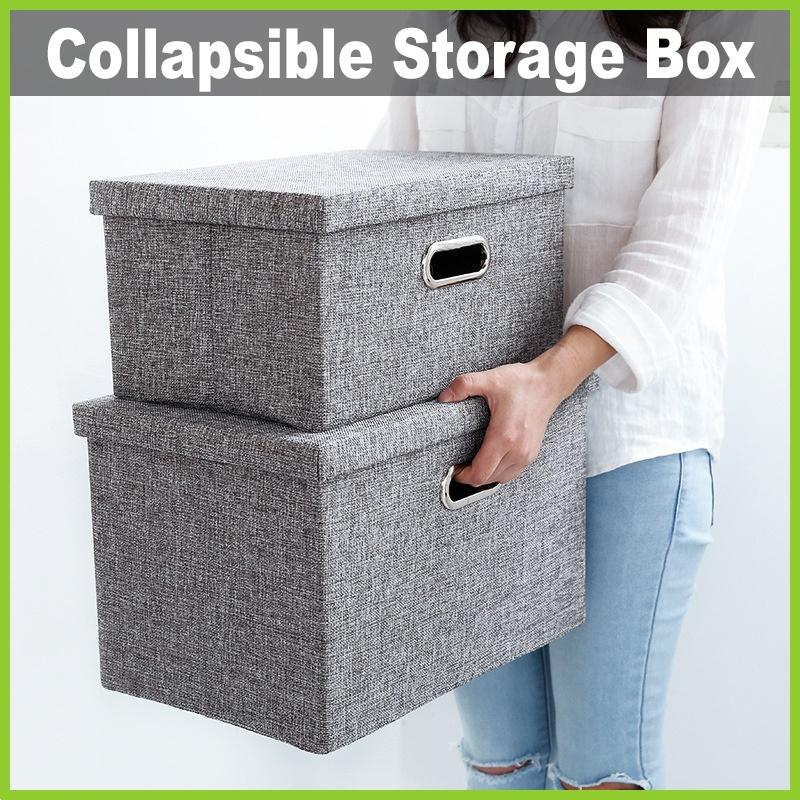 [One Mart][Life+] Collapsible Fabric Storage Box ★ Easy to Store • Removable Cover • Excellent Ventilation