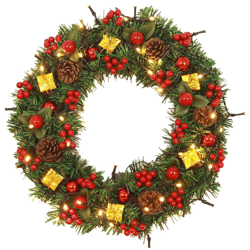 Christmas Balls Wreath Door Wall Ornament Garland Decoration