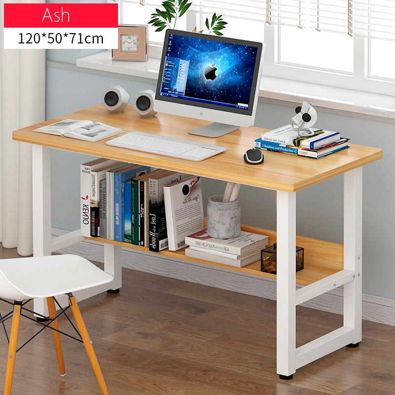 Wooden Study Table Desktop Table With Shelf(Ash)