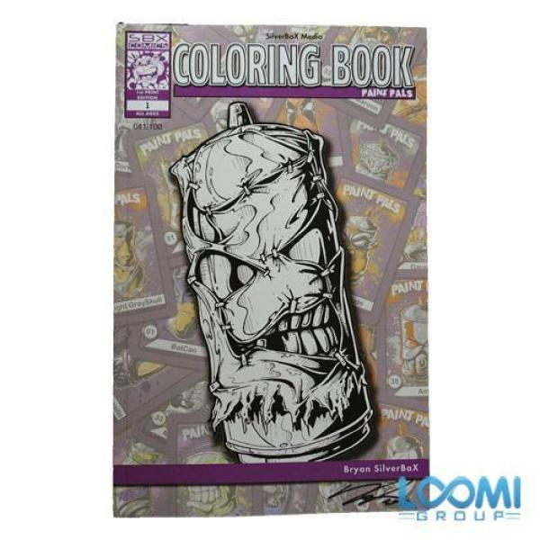 Paint Pals Adult Coloring Book by Bryan SilverBaX