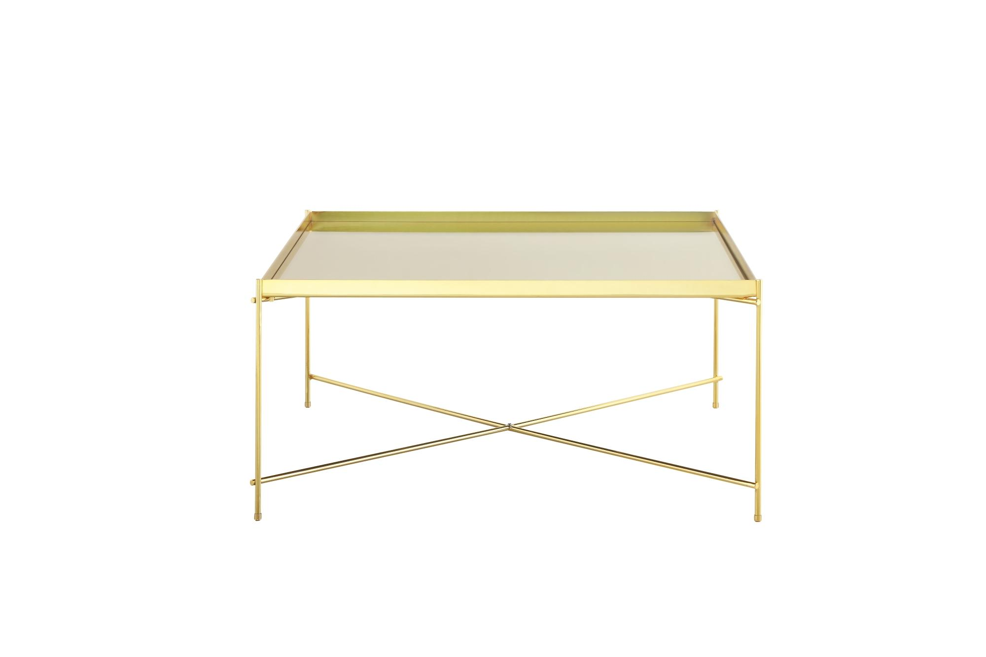 Oakland Gold Metal Mirror Coffee Table - Square