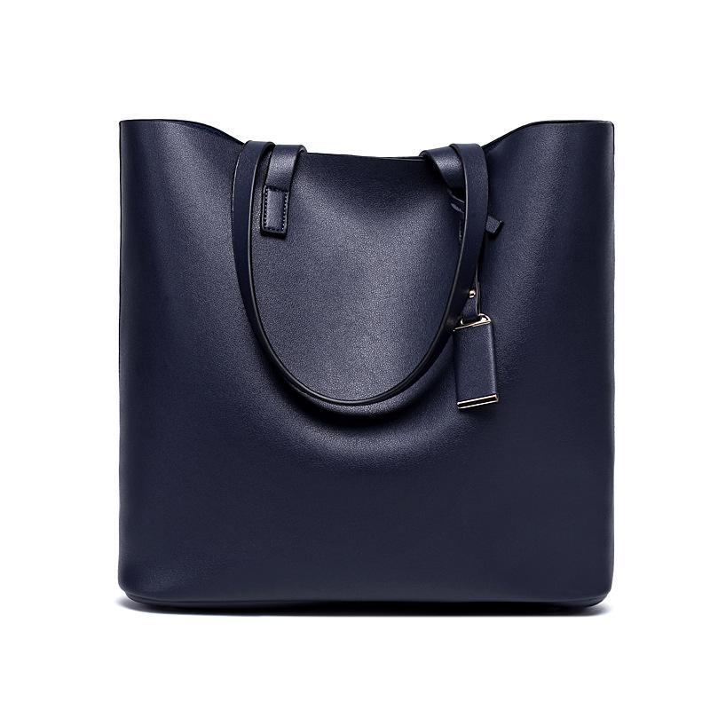 Japan Women Top Handle Satchel Handbags Large Shoulder Bag Leather Tote Bag  Zipper Purse - intl 868f28fbd870c