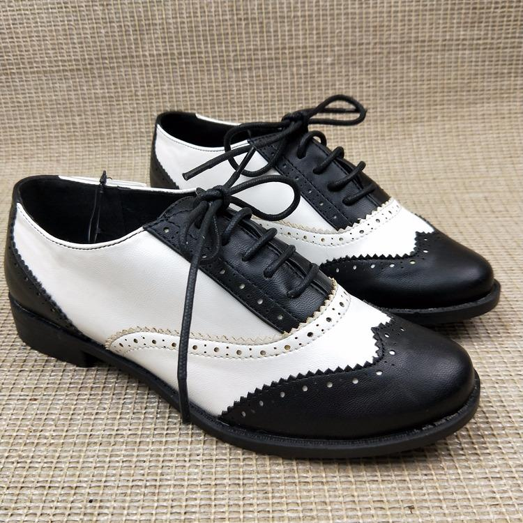Price Women Faux Leather Oxford Pointed Flat Shoes Brogues For Formal Working Size42 Intl Oem Original