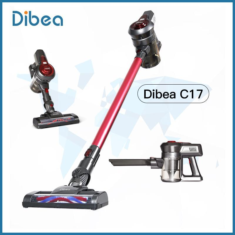 Dibea C17 household super suction power small hand-held mite removal wireless vacuum cleaner Singapore