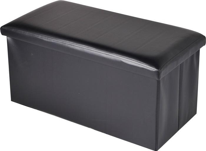 Foldable / Collapsible PU Leather Cushion Ottoman Storage Stool Seat Box (starzdeals)