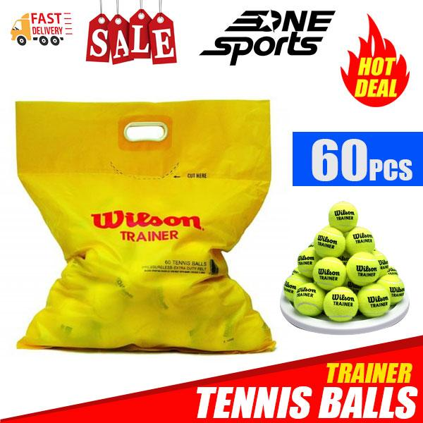 Wilson Tennis Trainer Ball Bag Of 60pcs Sports By One Sports.