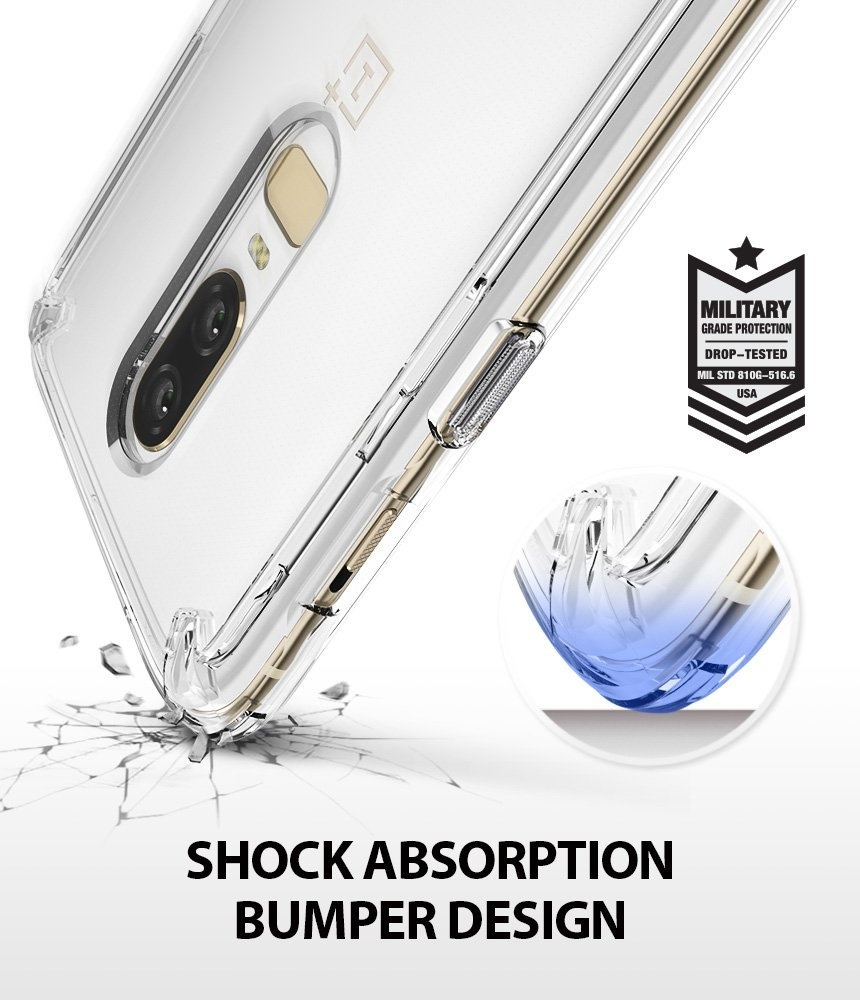 official photos f919d a3a1d OnePlus 6 Case, Ringke [FUSION] Crystal Clear PC Back TPU Bumper [Drop  Protection / Shock Absorption Technology] Scratch Resistant Protective  Cover ...