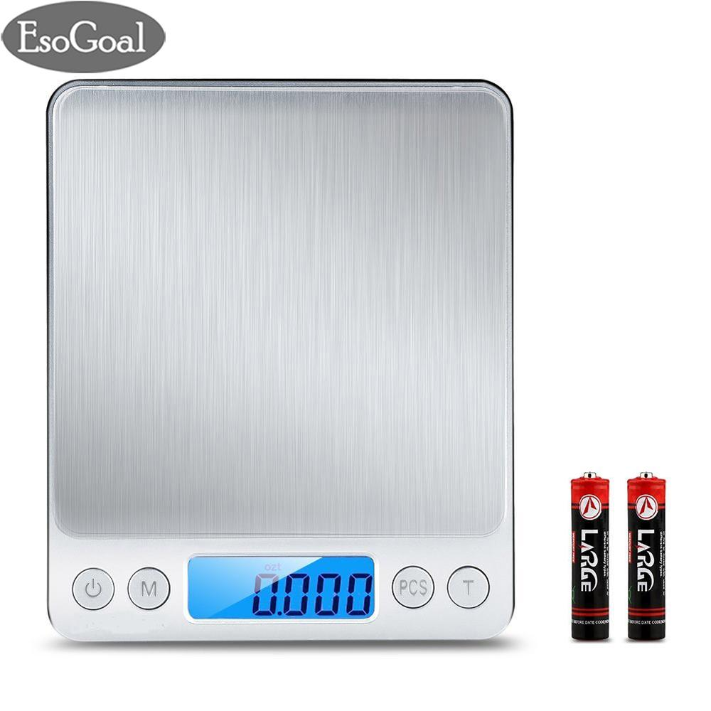Jvgood Digital Kitchen Scale, Pro Pocket Scales, 3000g 0.01oz/ 0.1g Mini Food Weight Scales With 2 Trays, Electric Jewelry Scales With Back-Lit Lcd Display, Tare And Pcs Features, Stainless Steel By Jvgood.