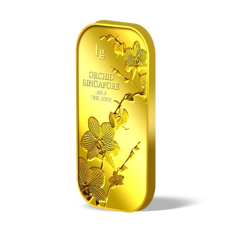 Sale Puregold Singapore 1G Orchid Series 1 Gold Bar 999 9 Online On Singapore