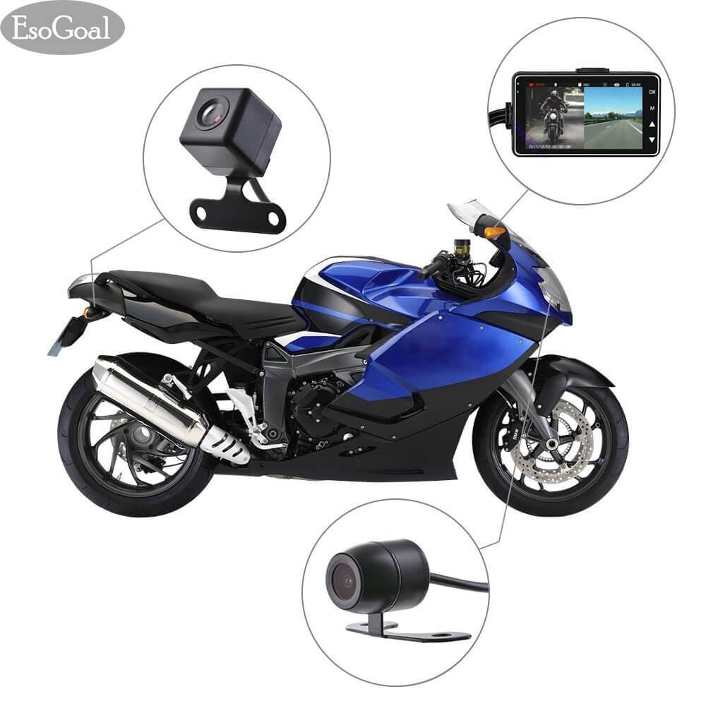 Esogoal 3 Lcd Motorcycle Camera Motor Motorbike Dash Cam Recorder Dvr G-Sensor Motor Dash Cam 720p With Dual-Track Front Rear Recorder By Esogoal.