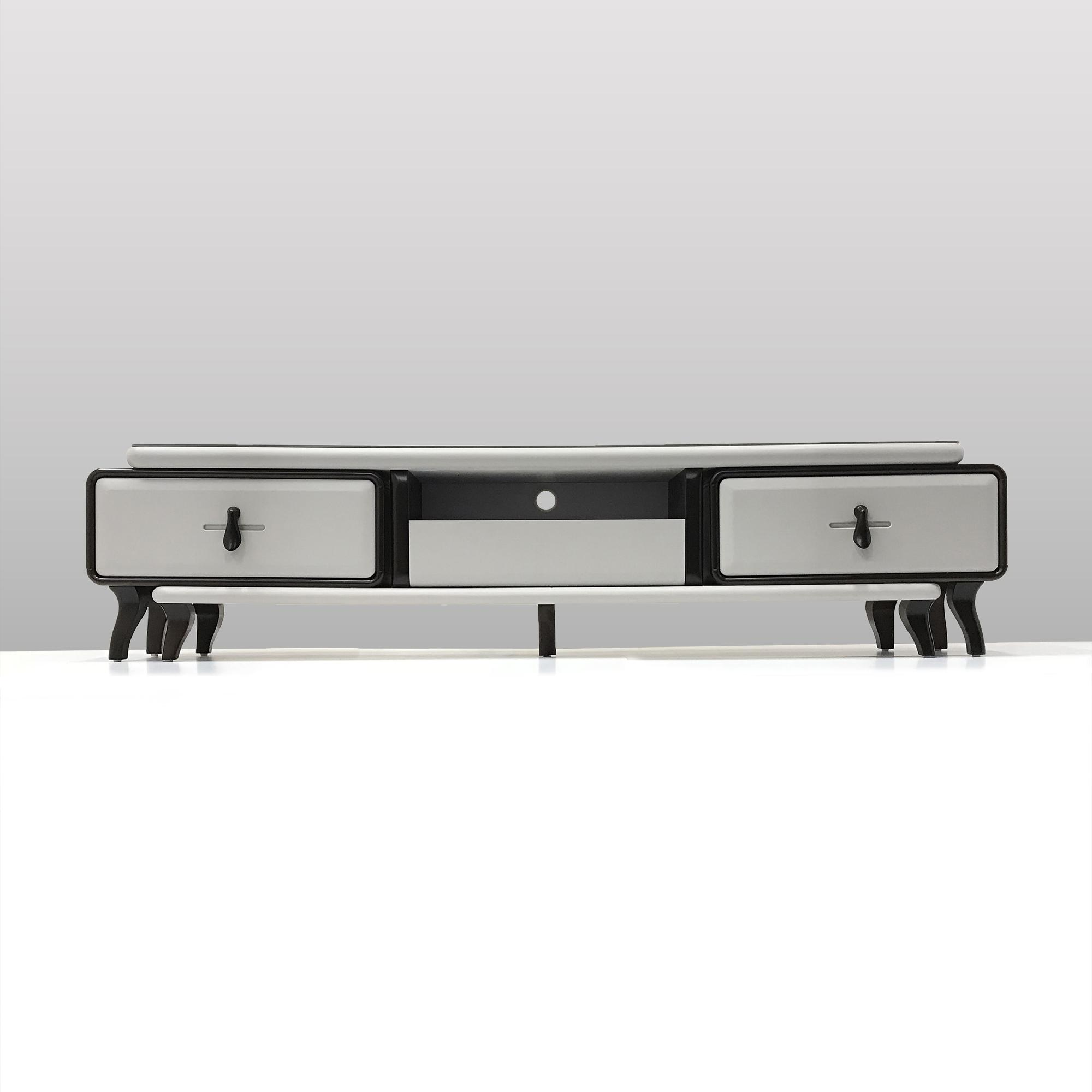 Grey Tinted Glass Top TV Console