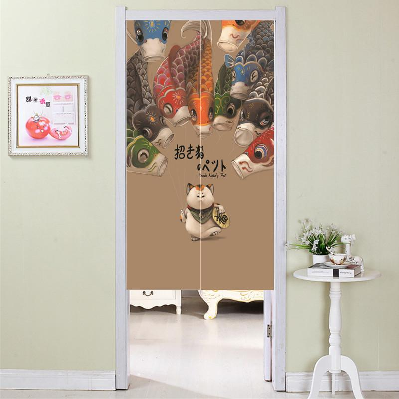 Fabric bedroom kitchen bathroom ban lian door curtain